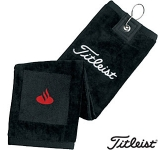 Titleist Tri Fold Microfibre Golf Towel  by Gopromotional - we get your brand noticed!