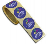 50mm Rolls Of Paper Sticker  by Gopromotional - we get your brand noticed!