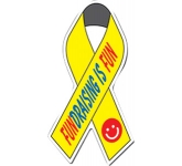 Awareness Ribbon Shaped Paper Sticker  by Gopromotional - we get your brand noticed!