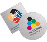 Brushed Aluminium Sticker  by Gopromotional - we get your brand noticed!