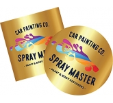 Gold Mirror Sticker  by Gopromotional - we get your brand noticed!