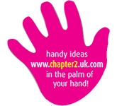 Hand Shaped  Paper Sticker