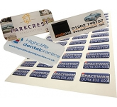Rectangular Domed Vinyl Sticker  by Gopromotional - we get your brand noticed!