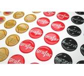 Round Domed Vinyl Sticker  by Gopromotional - we get your brand noticed!