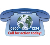 Telephone Shaped Paper Sticker  by Gopromotional - we get your brand noticed!