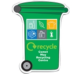 Wheelie Bin Shaped Paper Sticker  by Gopromotional - we get your brand noticed!