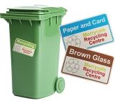 Wheelie Bin Sticker  by Gopromotional - we get your brand noticed!