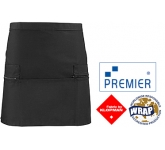 Premier Zipped Pockets Short Apron  by Gopromotional - we get your brand noticed!