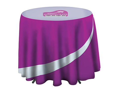 Promotional Cafe Height Round Tablecloth Printed With Your