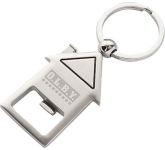 Deluxe House Shaped Keyring Bottle Opener