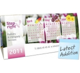 Quad Desk Calendar  by Gopromotional - we get your brand noticed!