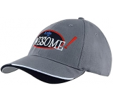 Alameda Indented Peak Heavy Cotton Brushed Cap  by Gopromotional - we get your brand noticed!