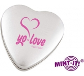 Large Heart Shaped Mint Tin  by Gopromotional - we get your brand noticed!