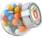 Mini Side Glass Sweet Jars - Gum Balls