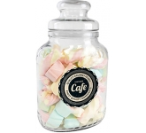 Classic Glass Sweet Jars - Coloured Marshmallows