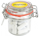 Clip Top Glass Sweet Jars - Chalk Torpedos