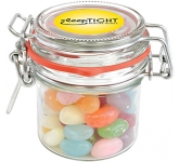 Clip Top Glass Sweet Jars - Jelly Beans