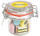 Clip Top Glass Sweet Jars - Liquorice Allsorts  by Gopromotional - we get your brand noticed!