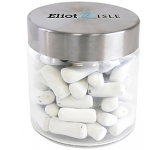 Small Screw Top Glass Sweet Jars - Chalk Torpedos