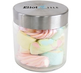 Small Screw Top Glass Sweet Jars - Coloured Marshmallows