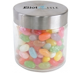 Small Screw Top Glass Sweet Jars - Jelly Beans