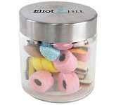 Small Screw Top Glass Sweet Jars - Liquorice Allsorts