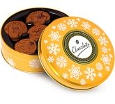 Christmas Gold Share Tins - Belgian Chocolate Cookies