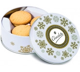 Christmas Snowflake Treat Tins - All Butter Shortbread Biscuits  by Gopromotional - we get your brand noticed!