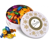 Christmas White Share Tins - Quality Street