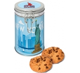 Flip Top Tins - Chocolate Chip Cookies  by Gopromotional - we get your brand noticed!