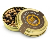 Gold Caviar Treat Tins - Dark Chocolate & Salted Caramel Chocolate Pearls