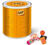 Large Branded Sweet Paint Tin - Retro