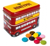 London Bus Sweet Tins - Chocolate Beanies  by Gopromotional - we get your brand noticed!