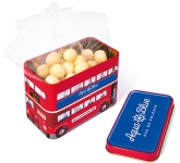 London Bus Sweet Tins - White Chocolate Malt Balls  by Gopromotional - we get your brand noticed!