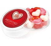 Maxi Round Sweet Pots - Heart Shaped Gourmet Jelly Beans  by Gopromotional - we get your brand noticed!