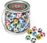 Midi Buckets - Foil Wrapped Chocolate Footballs