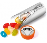 Midi Clear Sweet Tubes - Jelly Beans  by Gopromotional - we get your brand noticed!