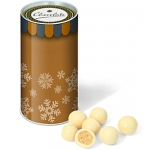 Mini Christmas Snack Tubes - White Chocolate Malt Balls