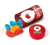 Mini Clear Sweet Tubes - Branded Jelly Beans