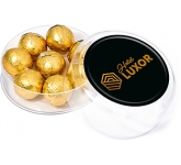 Maxi Round Sweet Pots - Foil Wrapped Chocolate Balls  by Gopromotional - we get your brand noticed!
