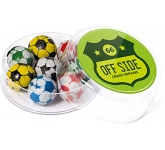 Maxi Round Sweet Pots - Foil Wrapped Chocolate Footballs  by Gopromotional - we get your brand noticed!