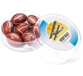 Maxi Round Sweet Pots - Foil Wrapped Chocolate Rugby Balls