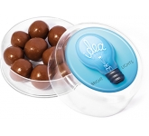 Maxi Round Sweet Pots - Milk Chocolate Malt Balls  by Gopromotional - we get your brand noticed!