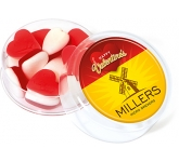 Maxi Round Sweet Pots - Valentines Heart Throbs  by Gopromotional - we get your brand noticed!