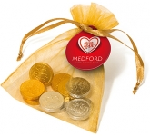 Organza Bags - Chocolate Coins  by Gopromotional - we get your brand noticed!