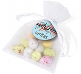 Organza Bags - Speckled Chocolate Eggs  by Gopromotional - we get your brand noticed!
