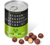 Ring Pull Sweet Tins - Milk Chocolate Malt Balls  by Gopromotional - we get your brand noticed!