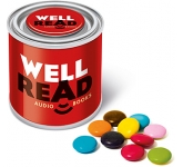 Small Sweet Paint Tins - Chocolate Beanies  by Gopromotional - we get your brand noticed!