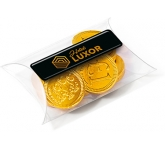 Small Sweet Pouches - Chocolate Coins  by Gopromotional - we get your brand noticed!