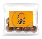 Sweet Treat Bags - Milk Chocolate Malt Balls - 20g  by Gopromotional - we get your brand noticed!